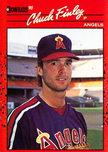 Chuck Finley #344 - Angels 1990 Donruss Baseball Trading Card