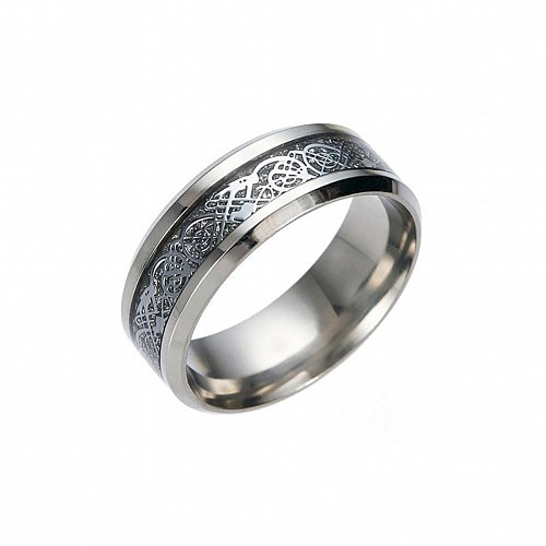 men silver ring stainless steel