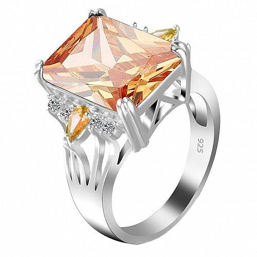 women crystal zircon ring