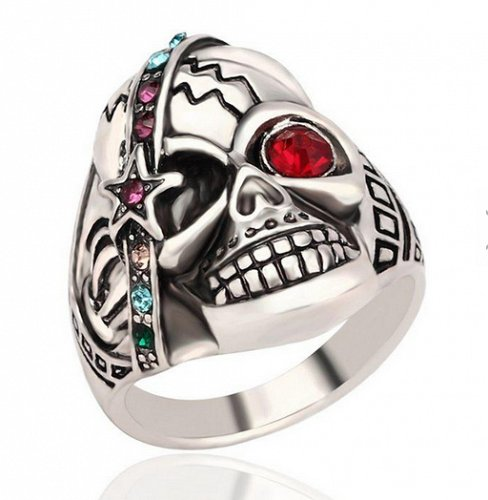 men fashion SKULL ring size