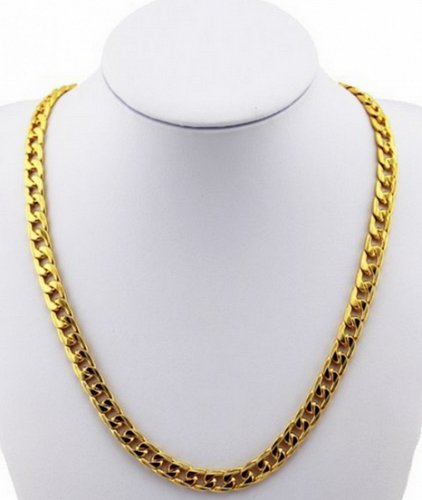 24inch men 18K gold plated necklace