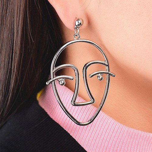 cute silver plated earring