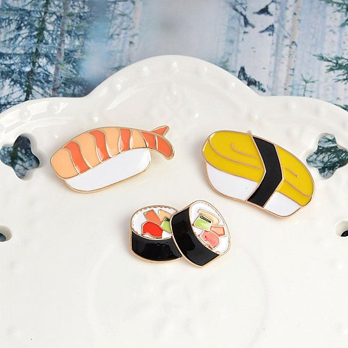 3pcs cute food brooch