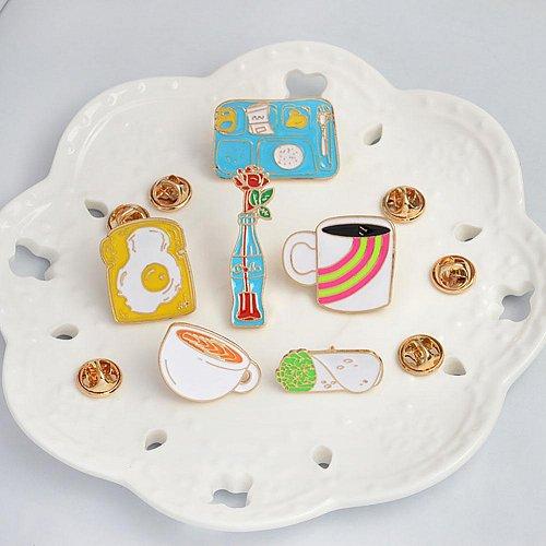6pcs cute brooch jewelry set