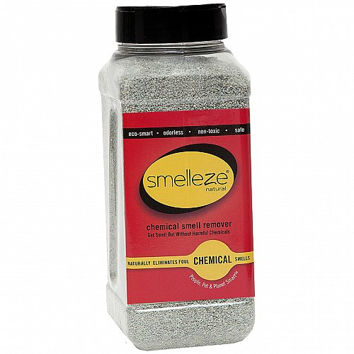 SMELLEZE Natural Chemical Odor Remover Granules: 2 lb. Bottle. Rid Floors Odor