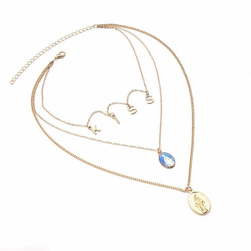 more layer women girl fashion gold plated necklace