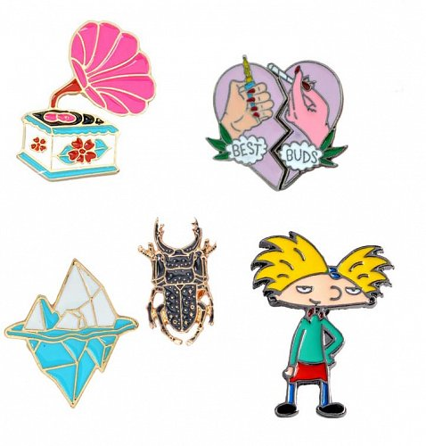 5pcs funny kids brooch jewelry pins