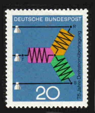 German MNH Scott #965 Catalog Value $.25