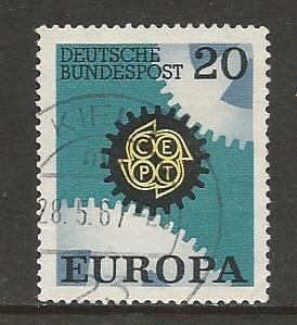 German Used Scott #969 Catalog Value $.30