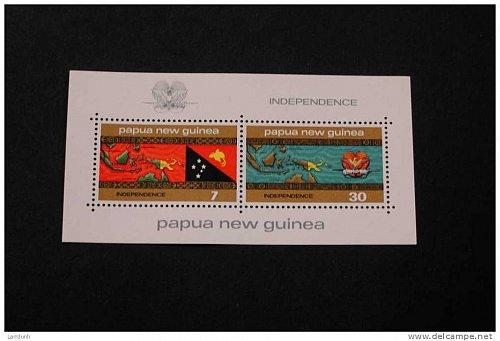 Papua New Guinea 424a souvenir sheet MNH Independence Map of SouthEast Asia Flag