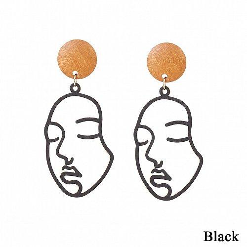 Women funny face earring
