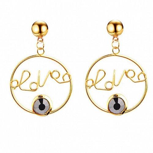 Women love letter earring black