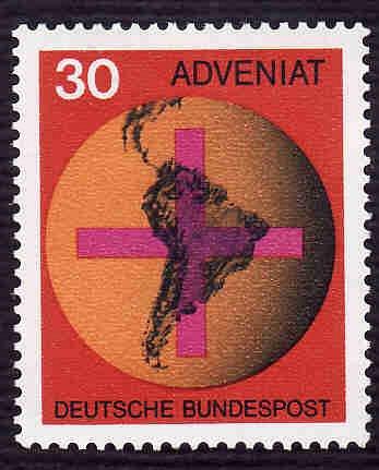 German MNH Scott #977 Catalog Value $.25