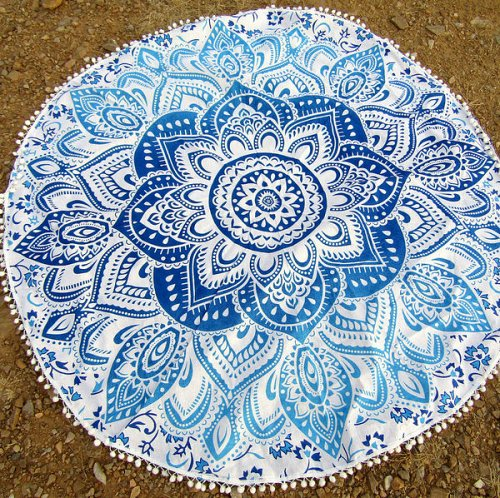 bed sheet yoga mat tapestry table cover scarf beach towel round wall decoration