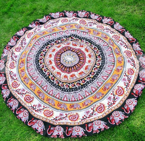 bed sheet yoga mat tapestry tablecloth scarf beach round wall decoration