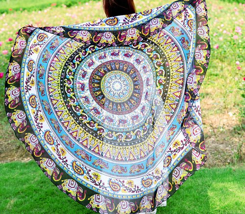 yoga mat tapestry tablecloth scarf beach round wall decoration