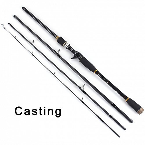100% Carbon Fiber Rod Spinning Fishing Rods Casting Travel Rod 4 Sections Fast Action