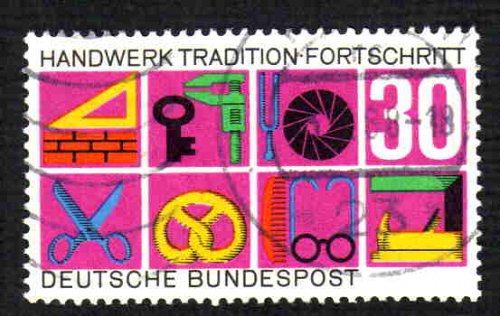 German Used Scott #981 Catalog Value $.35