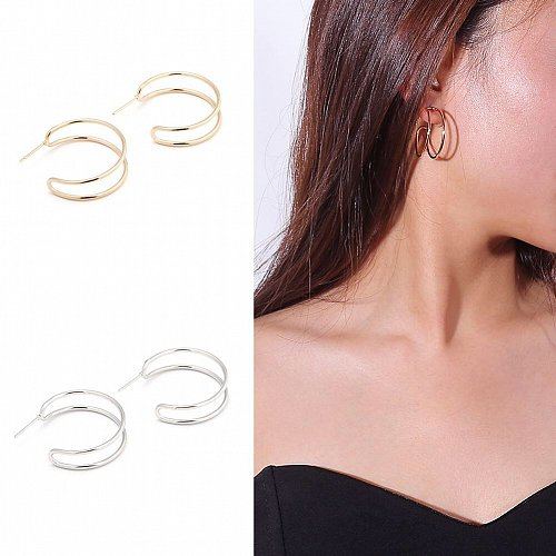 Gold plated/ silver women earring