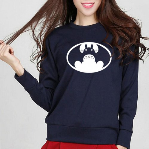 women cute printed top hoodies pullover