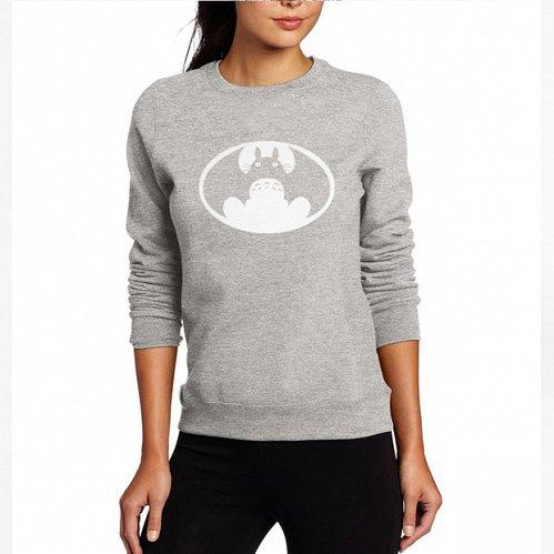 women cute printed top hoodies pullover grey
