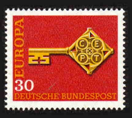German MNH Scott #984 Catalog Value $.25