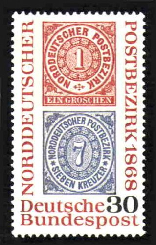 German MNH Scott #990 Catalog Value $.25