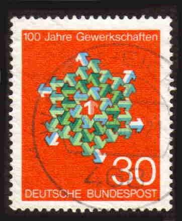 German Used Scott #991 Catalog Value $.30