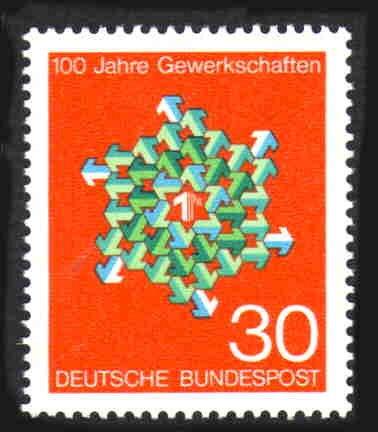 German MNH Scott #991 Catalog Value $.25