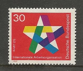 German MNH Scott #995 Catalog Value $.45