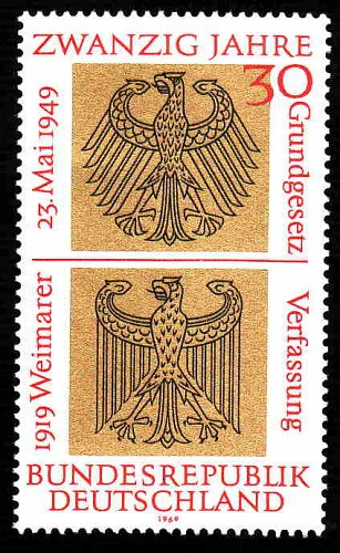 German MNH Scott #998 Catalog Value $1.20