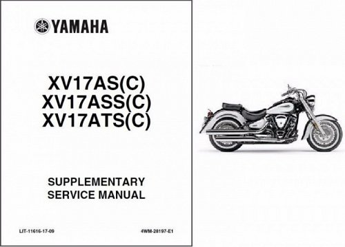 1998-2008 Yamaha Road Star 1600 / 1700 ( XV16A / XV17A ) Service Manual on a CD