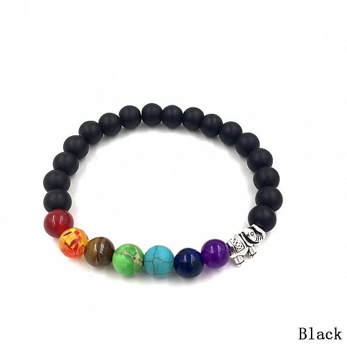 fashion men natural black beads bracelet
