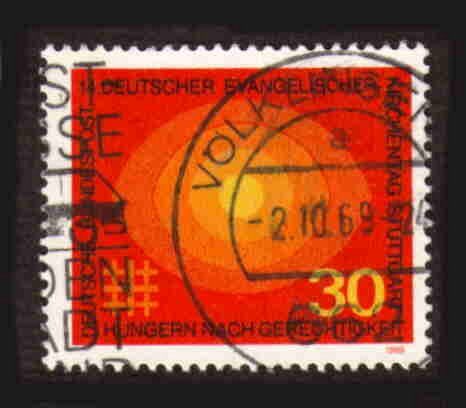 German Used Scott #1004 Catalog Value $.30
