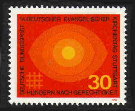 German MNH Scott #1004 Catalog Value $.45