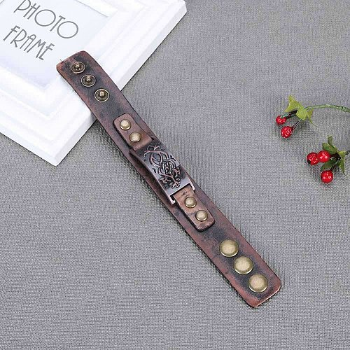 fashion men brown punk bracelet