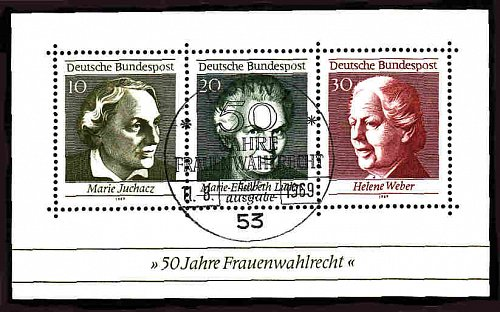 German Used Scott #1007 Catalog Value $.80