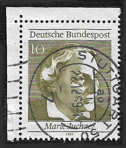German Used Scott #1007a Catalog Value $.25