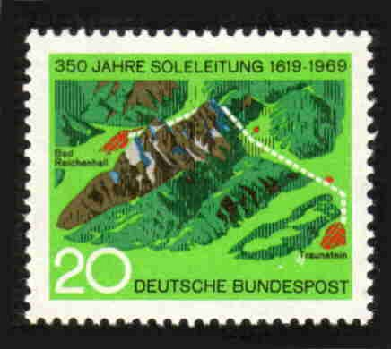 German MNH Scott #1009 Catalog Value $.45
