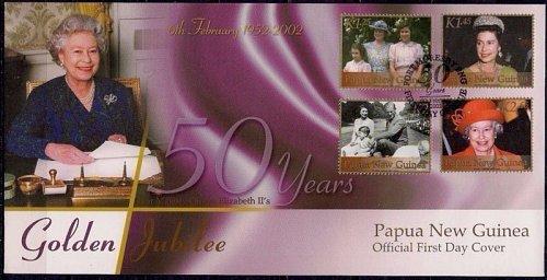 Papua New Guinea 2002 Queen Elizabeth II/QEII Golden Jubilee Royalty FDC