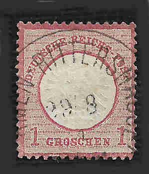 German Used Scott #17 Catalog Value $5.50