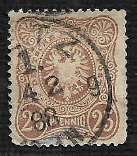 German Used Scott #41 Catalog Value $5.25