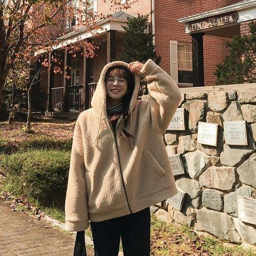 women Loose Hooded SOFT Coat