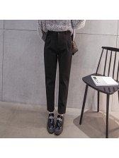 women regular wool long pants