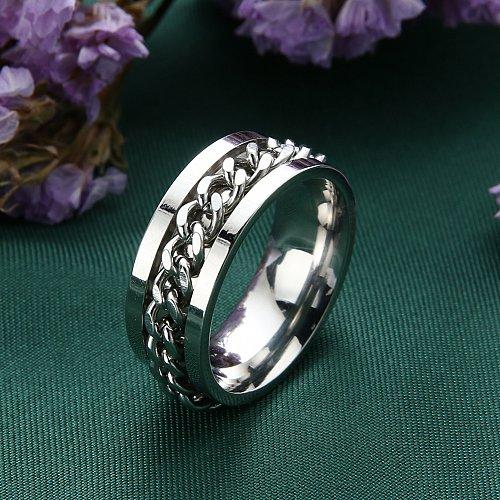 fashion WOMEN MEN stainless steel ring silver