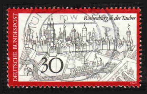 German Used Scott #1010 Catalog Value $.30