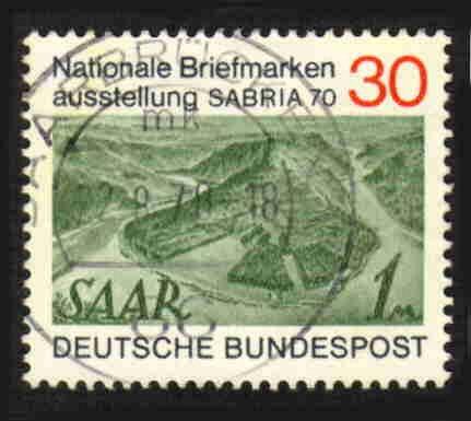 German Used Scott #1017 Catalog Value $.30