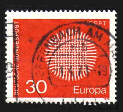 German Used Scott #1019 Catalog Value $.25