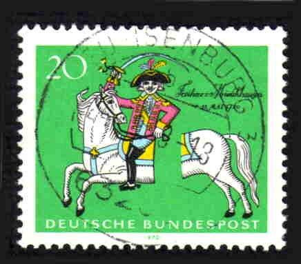 German Used Scott #1020 Catalog Value $.30