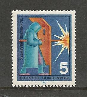German MNH Scott #1022 Catalog Value $.25